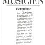 la lettre du musicien